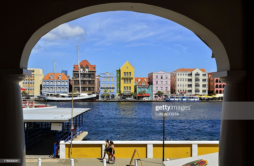 View of the Port of Willenstad Curacao on August 29 2013AFP PHOTO / Luis Acosta