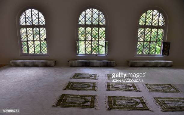 View of the prayer room prior to an inaugural friday payer at the Ibn RushdGoethemosque in Berlin on June 16 2017 Founded by Seyran Ates the mosque...