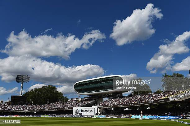 A view of the press box during day four of the 2nd Investec Ashes Test match between England and Australia at Lord's Cricket Ground on July 19 2015...