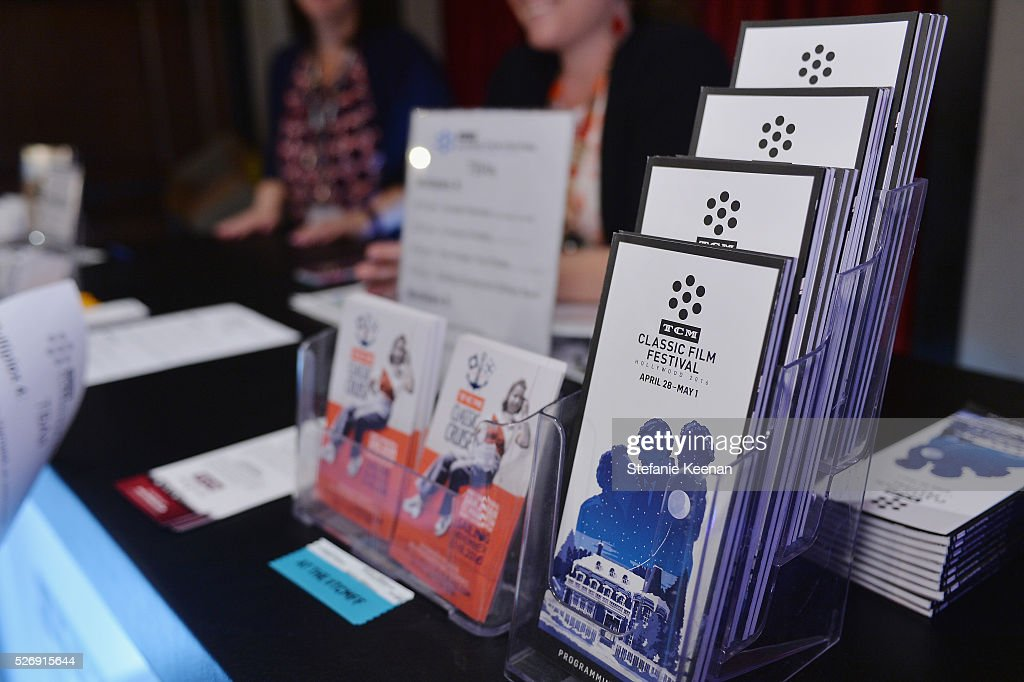 A view of the program guides at 'The Art of the Filmscore: Creating Memories in the Movies' during day 4 of the TCM Classic Film Festival 2016 on May 1, 2016 in Los Angeles, California. 25826_005