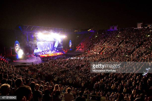 View of the public sitting at the Verona Arena during the concert of the famous Italian singer Zucchero Verona September 25th 2011