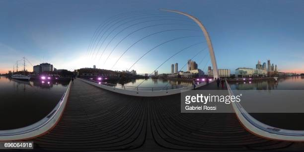 A view of the Puente de la Mujer at Puerto Madero on June 14 2017 in Buenos Aires Argentina