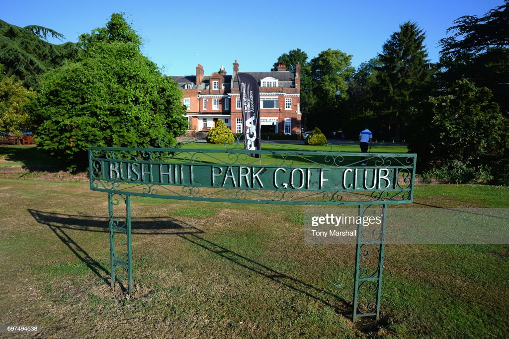 A view of the putting green and club house at Bush Hill Park Golf Club on June 19, 2017 in Enfield, England.