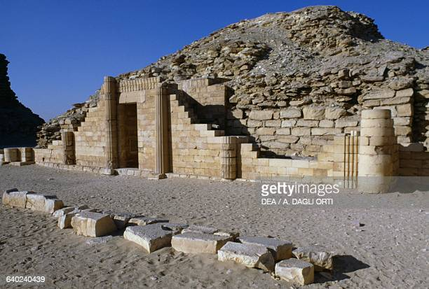 View of the Pyramid Complex of Djoser at Saqqara Memphis Egypt Egyptian civilisation Old Kingdom Dynasty III