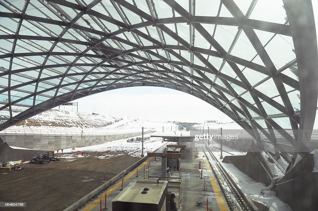 View of the rail station Saturday February 28 2015 at the Denver International Airport in Denver Colorado Guests and dignitaries showed up to...