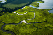View of the Rappahannock river in Fredericksburg VA on July 14 2015
