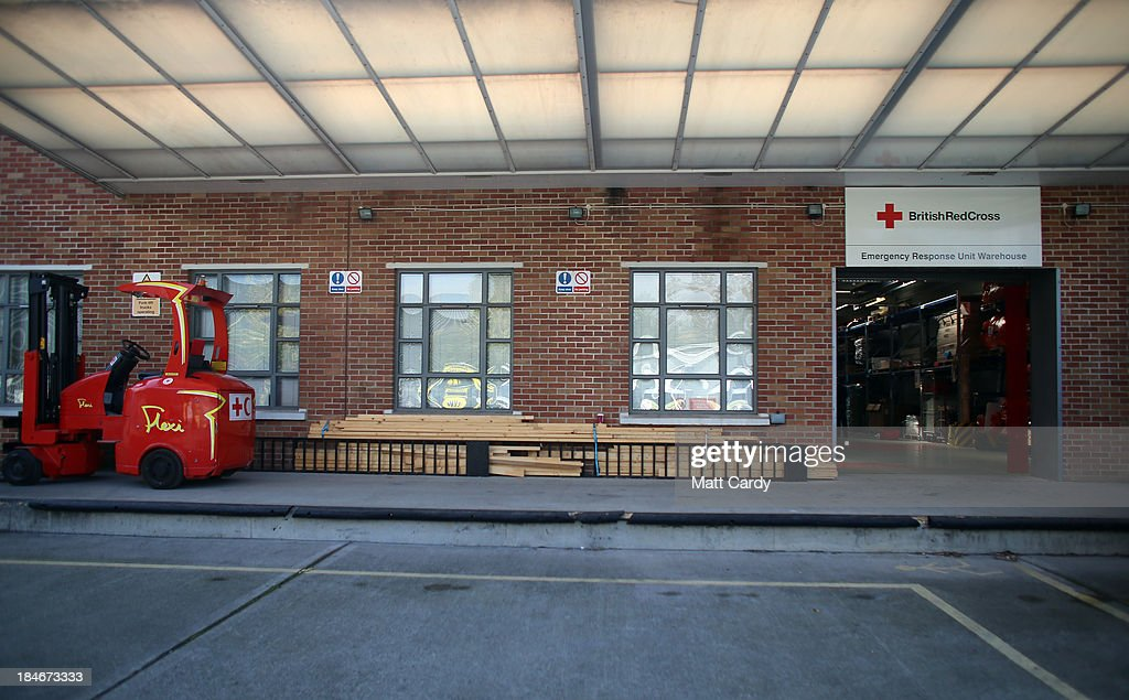 A view of the Red Cross Bristol Emergency Response Unit Warehouse, as it marks the 150th anniversary of The Red Cross movement on October 15, 2013 in Bristol, England. The British Red Cross is currently celebrating the 25 million food parcels issued worldwide by the British Red Cross.