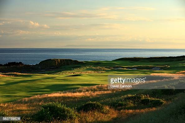 A view of the redesigned 565 yards par 5 10th hole of the Ailsa Course at the Trump Turnberry Resort on July 19 2016 in Turnberry Scotland
