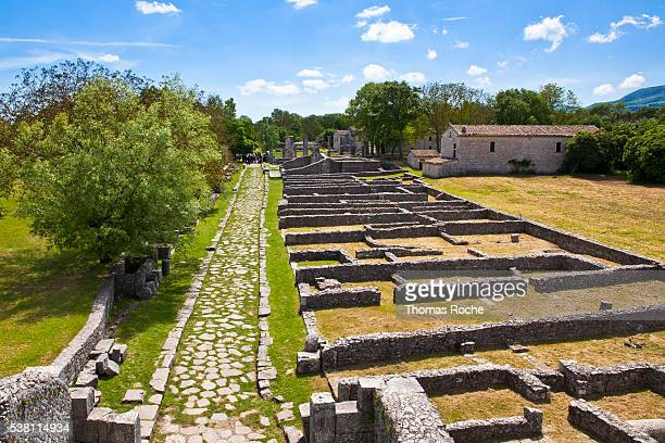 A view of the remains of the town of Saepinum in the Molise region of Italy