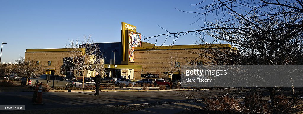 A view of the remodeled exterior facade of the Cinemark Century 16 Theaters on January 17, 2013 in Aurora, Colorado. The theater was the site of a mass shooting on July 20, 2012 that killed 12 people and wounded dozens of others.