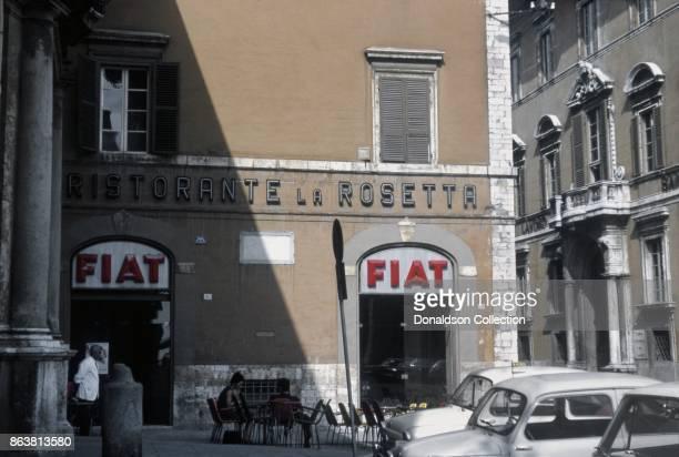 A view of the Ristorante La Rosetta on September 17 1963 in Perugia Italy