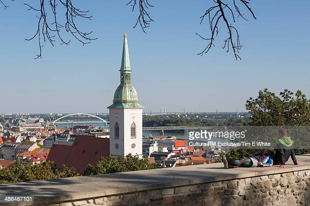 View of the river and city,  Bratislava, Slovakia