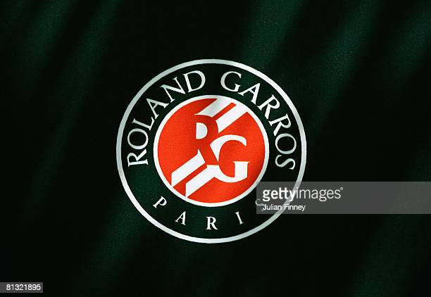 A view of the Roland Garros logo on day eight of the French Open at Roland Garros on June 1 2008 in Paris France