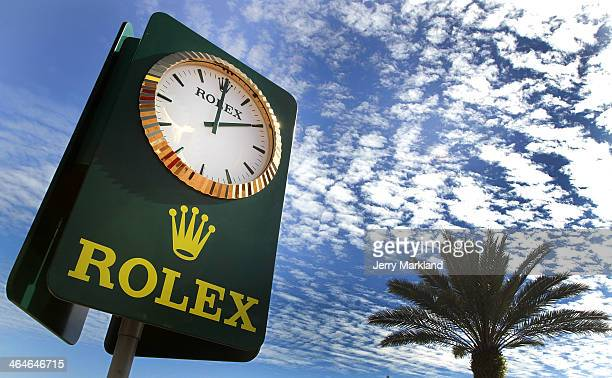 A view of the ROLEX countdown clock during practice for the Rolex 24 race at Daytona International Speedway on January 23 2014 in Daytona Beach...