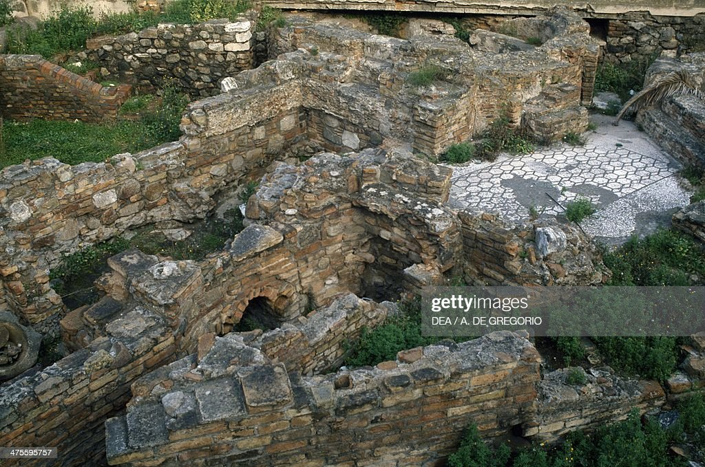 View of the Roman baths Reggio Calabria Calabria Italy Roman civilisation 1st2nd century