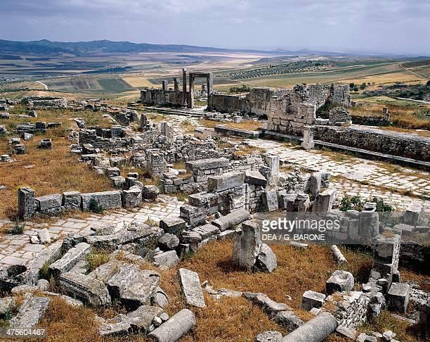 View of the Roman city of Thugga Tunisia