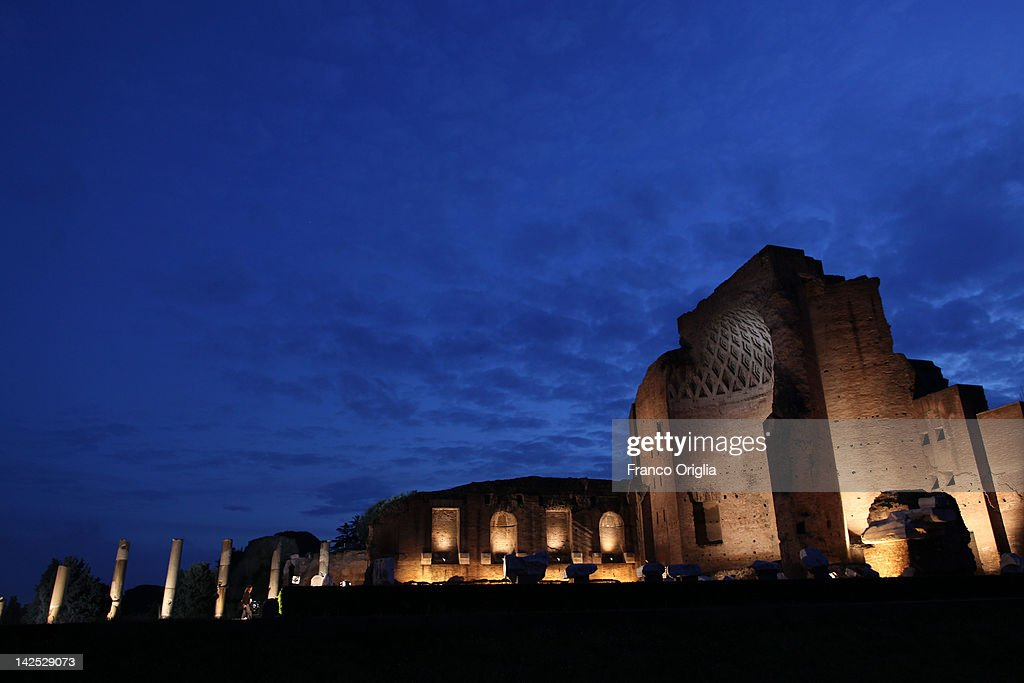 A view of the Roman Forum during the Way Of The Cross procession held by Pope Benedict XVI on Good Friday April 6, 2012 in Rome, Italy. The traditional Catholic procession on Good Friday recalls the crucifixion of Jesus Christ ahead of Sunday's Easter holiday.
