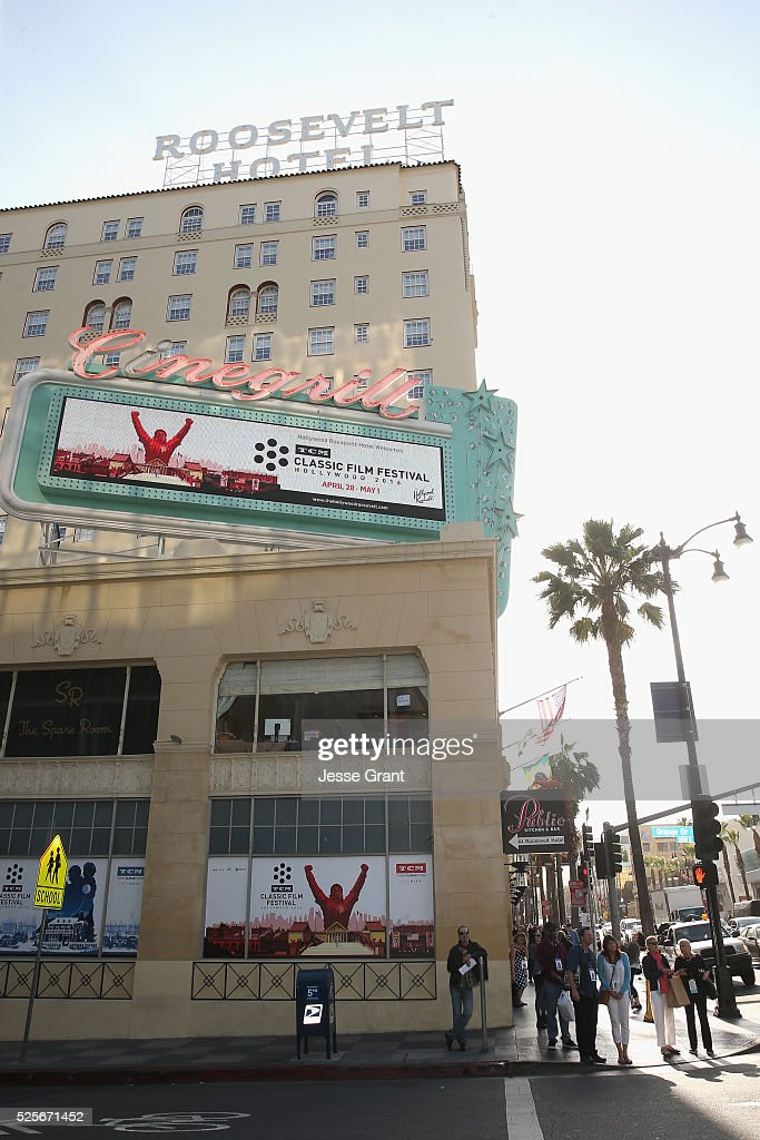 A view of the Roosevelt Hotel during day 1 of the TCM Classic Film Festival 2016 on April 28, 2016 in Los Angeles, California. 25826_009