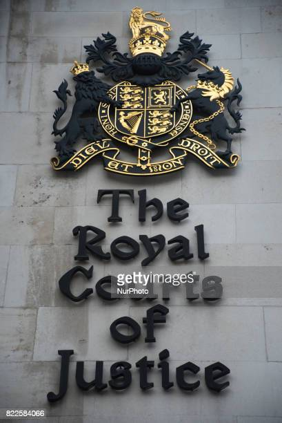 View of The Royal Court Of Justice London on July 25 2017 It has became the scene of the legal dispute about Charlie Gard's illness The High Court...