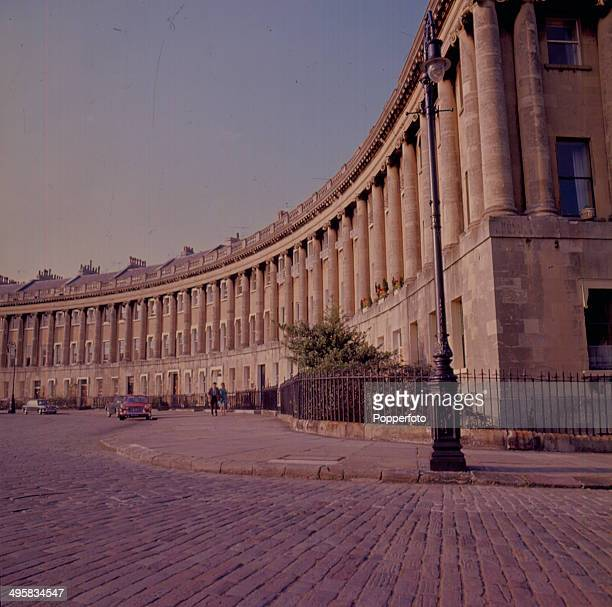 View of the Royal Crescent in Bath England in 1967 The crescent was designed by the architect John Wood and built between 1767 and 1774