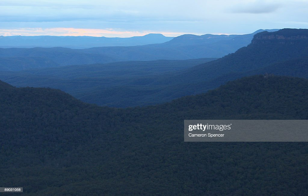 A view of the 'Ruined Castle' and 'Narrow Neck' in the Blue Mountains from Echo Point on July 15, 2009 in Katoomba, Australia. Missing British backpacker Jamie Neale was found earlier today after surviving 12 days lost in the Blue Mountains near Katoomba suffering from only dehydration and exposure.