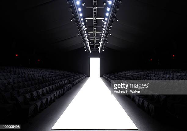 View of the runway at the Fall 2011 MercedesBenz Fashion Week at Lincoln Center on February 11 2011 in New York City