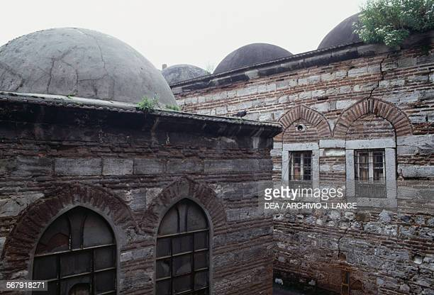 View of the Rustem Pasha Mosque complex 15501556 built by the architect Mimar Sinan for the grand vizier Rustem Pasha Istanbul Turkey 16th century
