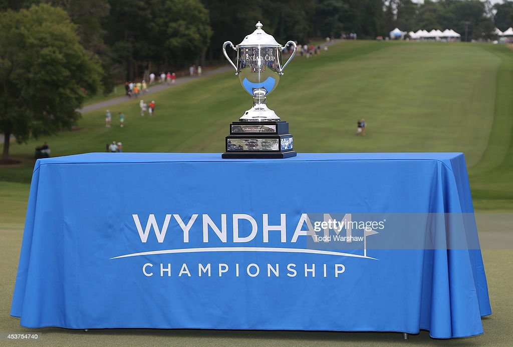 A view of the Sam Snead Cup on the 18th green after the final round of the Wyndham Championship at Sedgefield Country Club on August 17, 2014 in Greensboro, North Carolina.