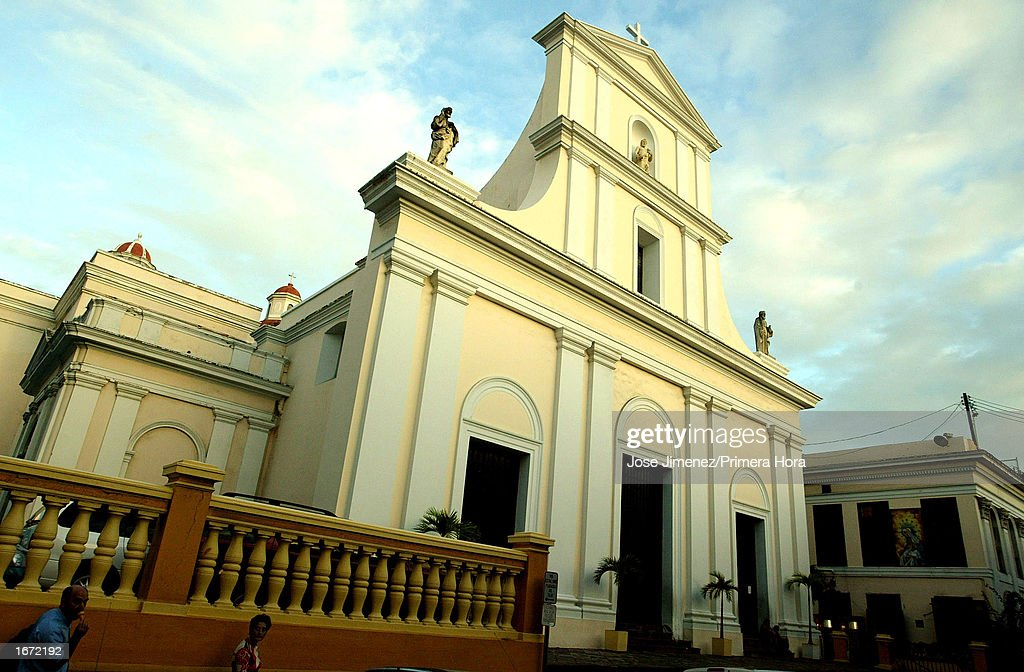 View of The San Juan Cathedral where singer Marc Anthony will have his catholic wedding with Dayanara Torres, Miss Universe, is seen December 4, 2002 in Old San Juan, Puerto Rico. Anthony will be married December 7,2002.
