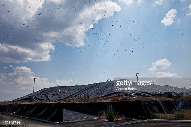 SAN TAMMARO CASERTA CAMPANIA ITALY A view of the San Tammaro garbage dump in province of Caserta Italy