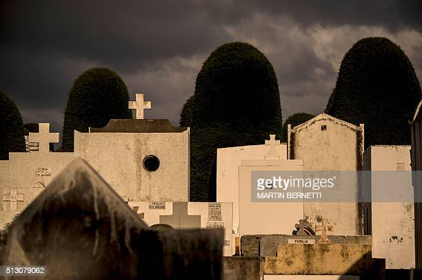 View of the Sara Braun public cemetery of Punta Arenas Chile on February 28 2016 Inaugurated on April 9 1894 the cemetery is considered an...