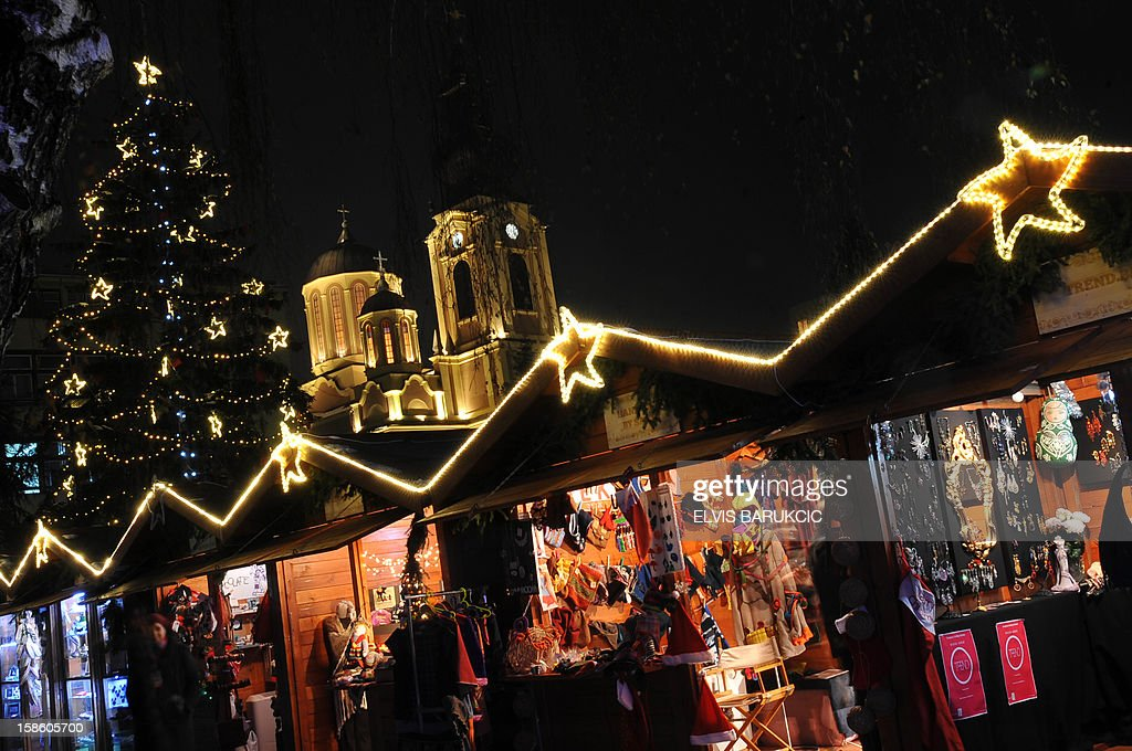 A view of the Sarajevo Holiday Market, in the Sarajevo city center, on December 21, 2012.