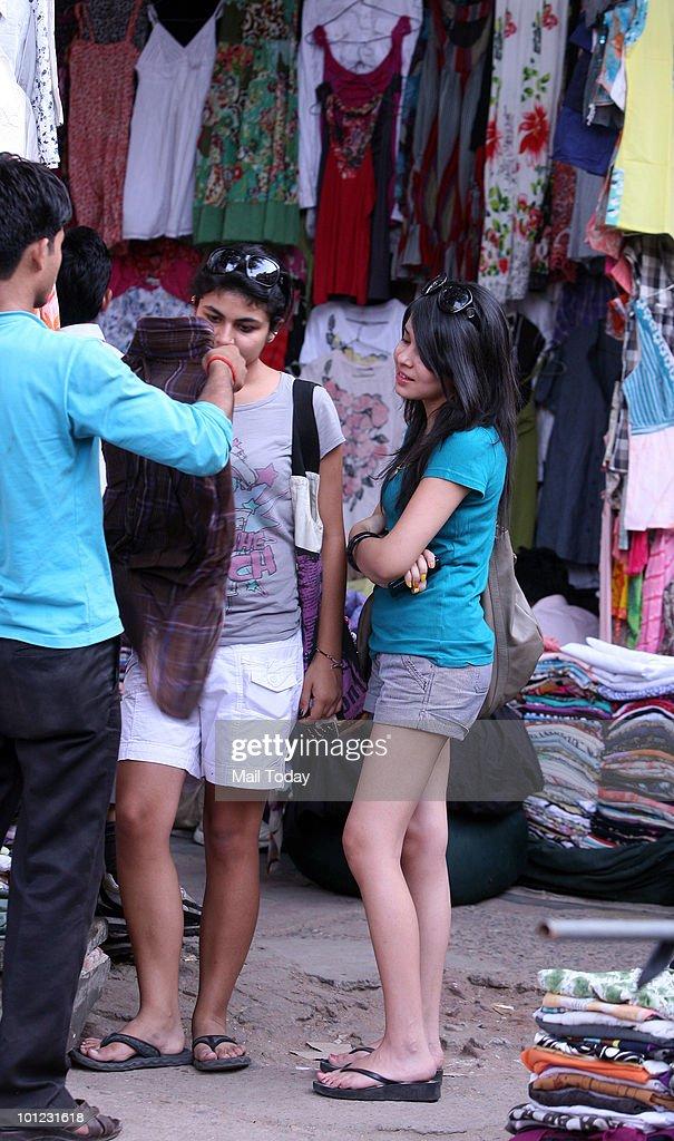 A view of the Sarojini nagar market in New Delhi on May 26, 2010.