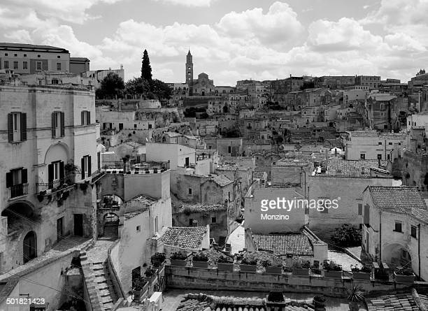 View of the Sassi the old town of Matera