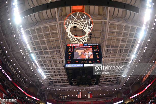 A view of the scoreboard after the game between the Texas Tech Red Raiders and the Texas Longhorns on January 02 2016 at United Supermarkets Arena in...