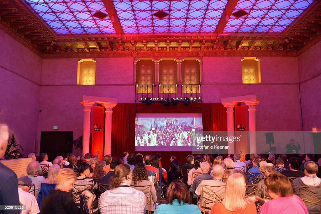A view of the screen at 'The Art of the Filmscore: Creating Memories in the Movies' during day 4 of the TCM Classic Film Festival 2016 on May 1, 2016 in Los Angeles, California. 25826_005