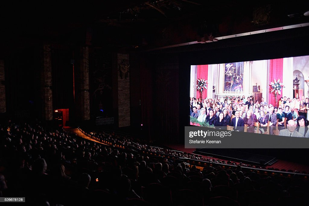 A view of the screen at 'The King and I' screening during day 3 of the TCM Classic Film Festival 2016 on April 30, 2016 in Los Angeles, California. 25826_005