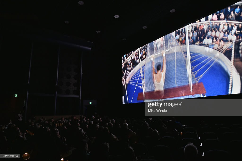 A view of the screen at 'Trapeze' during day 2 of the TCM Classic Film Festival 2016 on April 29, 2016 in Los Angeles, California. 25826_008