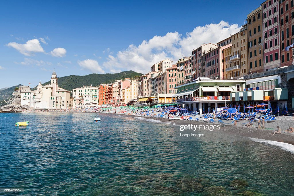 View of the seafront at Camogli