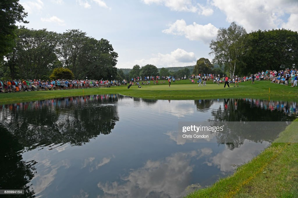 A view of the second green during the final round of the PGA TOUR Champions DICK'S Sporting Goods Open at En-Joie Golf Course on August 20, 2017 in Endicott, New York.