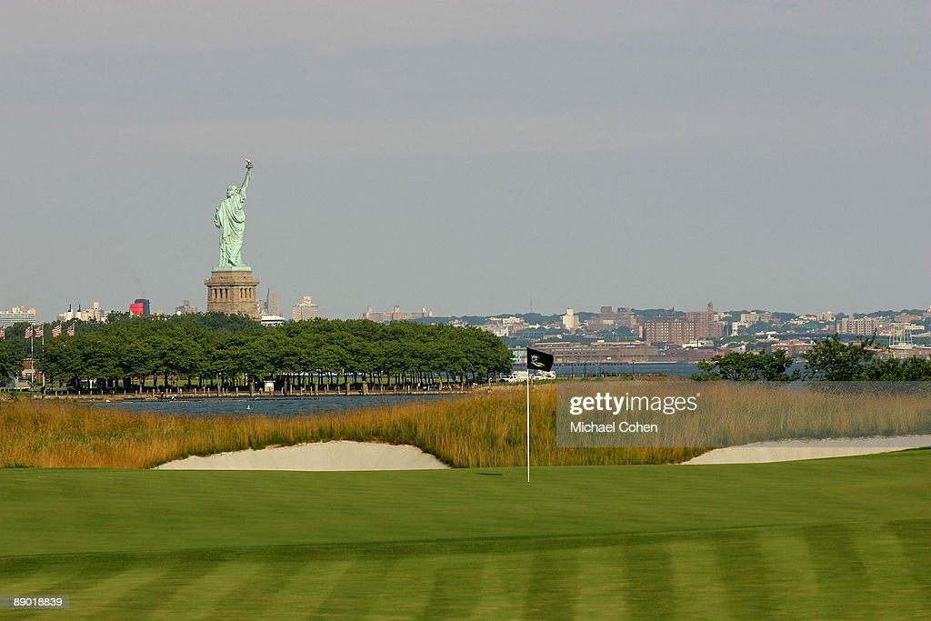 A view of the second hole photographed at Liberty National Golf Club on July 1 2009 in Jersey City New Jersey