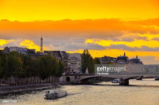 View of the Seine River Sunset - Paris