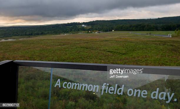 A view of the September 11 2016 sunrise from the flight path overlook at the Flight 93 National Memorial before the 15th Anniversary of the September...