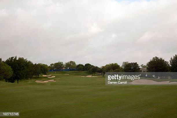 A view of the seventh hole during the HP Byron Nelson Championship at TPC Four Seasons Resort Las Colinas on May 21 2010 in Irving Texas