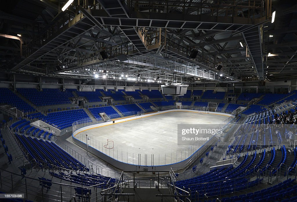 A view of the Shayba Arena venue for Ice Hockey at the 2014 Winter Olympics on November 6, 2012 in Sochi, Russia.