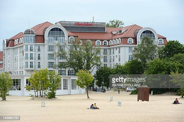 A view of the Sheraton hotel which host the Irish national football team in Sopot on the Baltic Sea near Gdansk on June 7 on the eve of the Euro 2012...