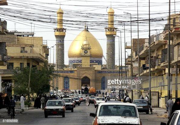 View of the Shiite Iraqi holy town of Karbala south of Baghdad and the shrine of Imam Hussein the Shiite Islam third religious leader 01 May 1999