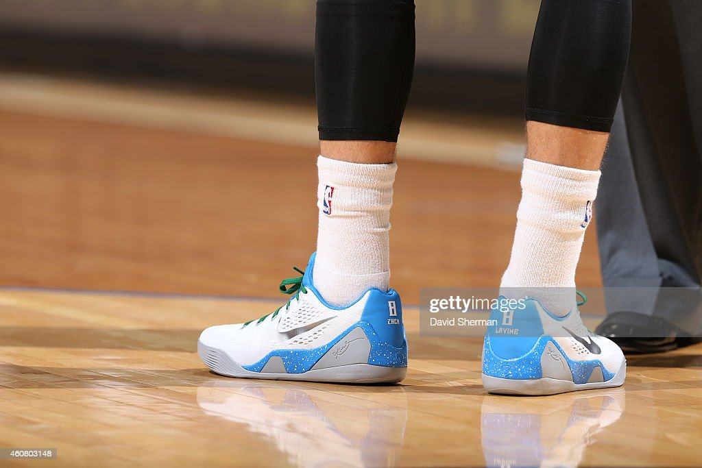 view of the shoes worn by Zach LaVine 8 of the Minnesota