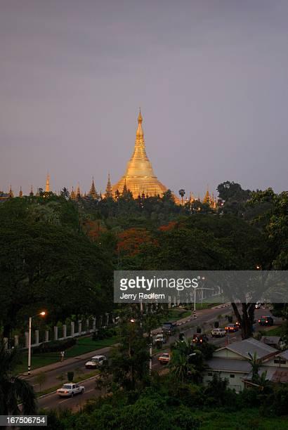 View of the Shwedagon Pagoda home of Burmese Buddhism