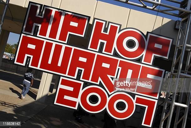 View of the sign at the 106 Park preshow before the BET Hip Hop Awards 2007 at the Atlanta Civic Center on October 13 2007 in Atlanta GA
